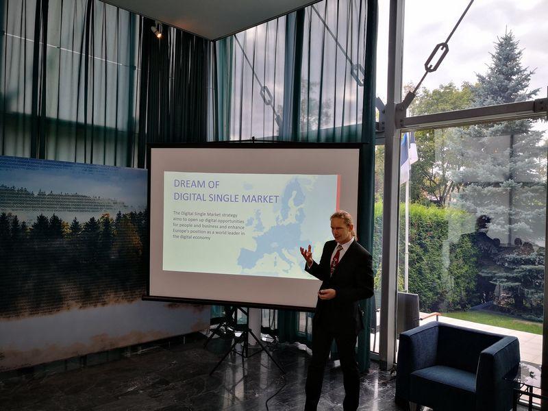 """Kalevas Pihlas, """"SK ID Solutions"""" direktorius, ateityje norėtų sukurti ES mastu veikiančią Bendrijos piliečių identifikavimo ir autentifikavimo platformą.  Gintauto Degučio (VŽ) nuotr."""