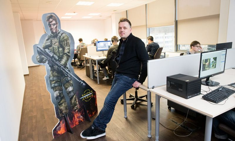 """Sergejus Trofimovas, vaizdo žaidimų UAB """"Nordcurrent"""" vienas iš įkūrėjų ir vadovas. Juditos Grigelytės (VŽ) nuotr."""