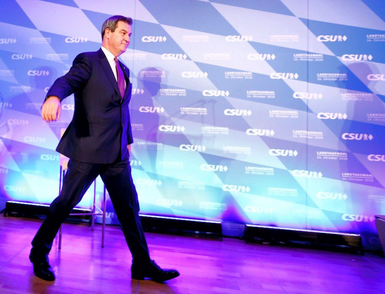 Bavarijoje valdančioji CSU patyrė istorinį smūgį