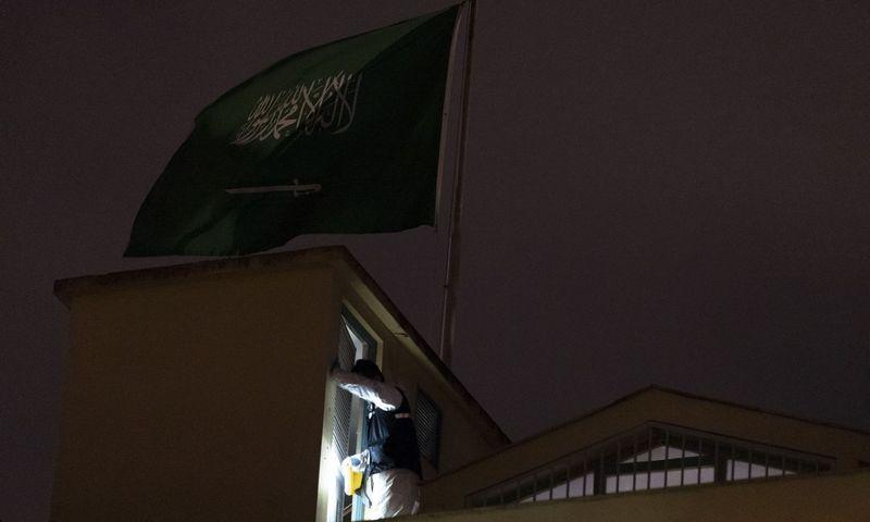 """Saudo Arabijos konsulatas Turkijoje.  Arnaudo Andrieu (""""SIPA"""" / """"Scanpix"""") nuotr."""