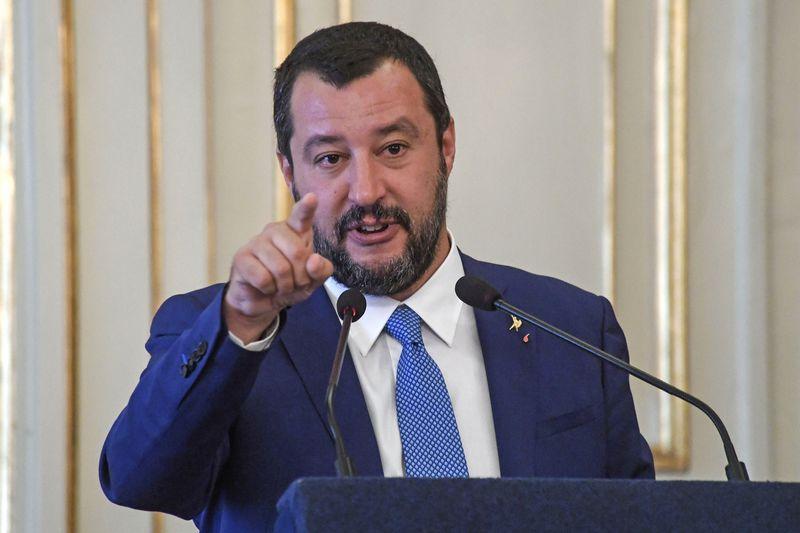 """Italijos vicepremjeras Matteo Salvini. Salvatore Laportos (""""Sipa"""" / """"Reuters"""") nuotr."""