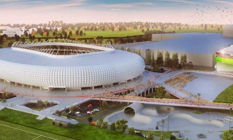 """""""Vilniaus nacionalinio stadiono"""" vizualizacija."""