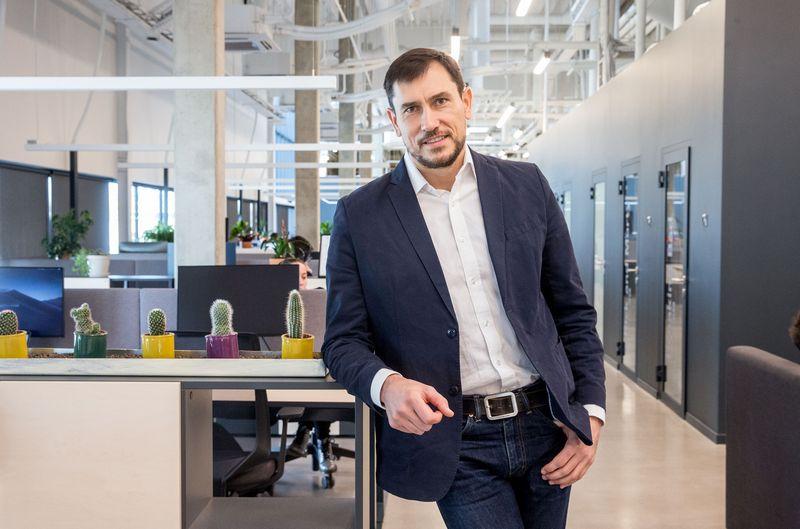 """UAB """"InsurTech solutions"""" direktorius Evaldas Valeiša. Juditos Grigelytės (VŽ) nuotr."""