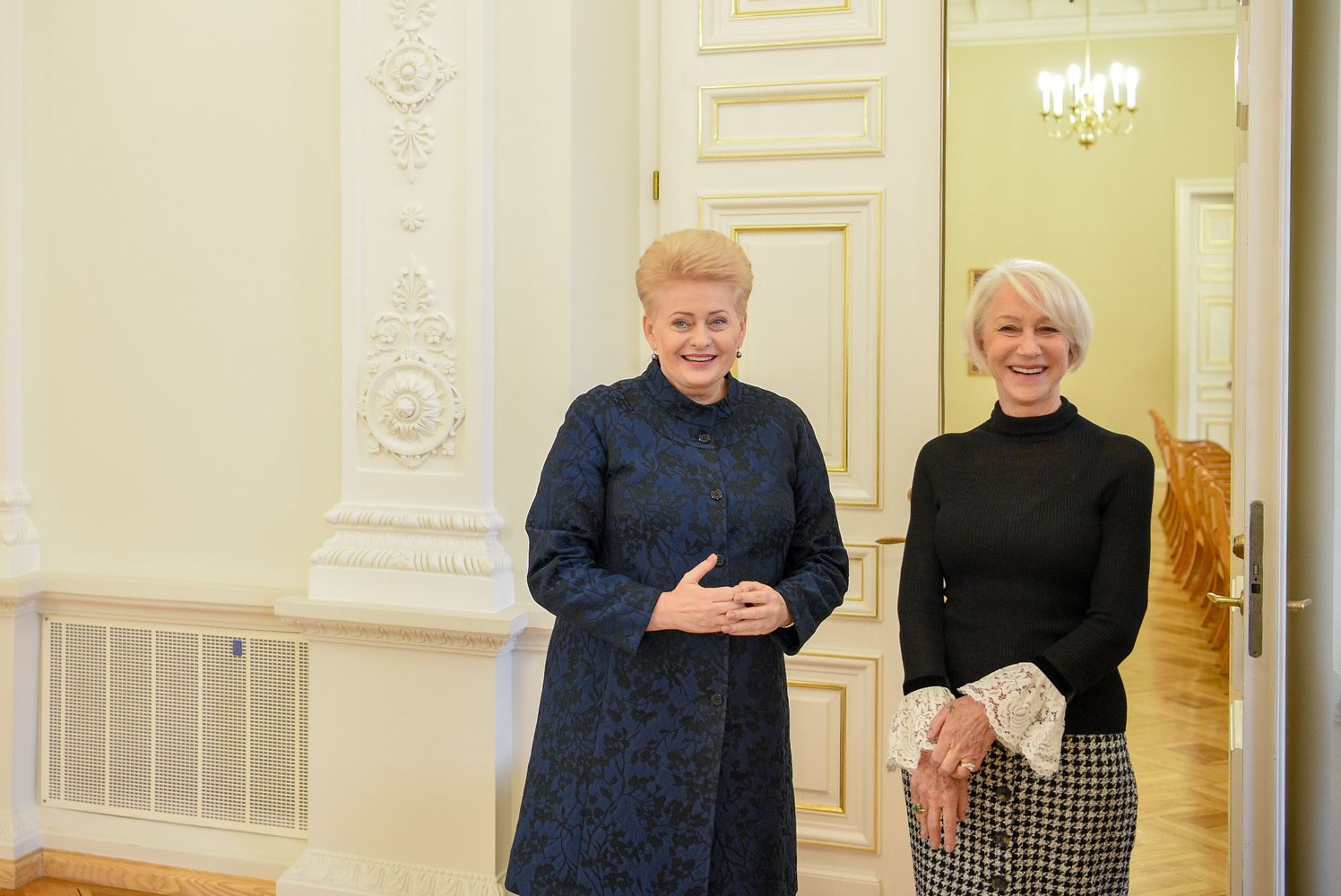 D. Grybauskaitė prezidentūroje priėmė aktorę H. Mirren