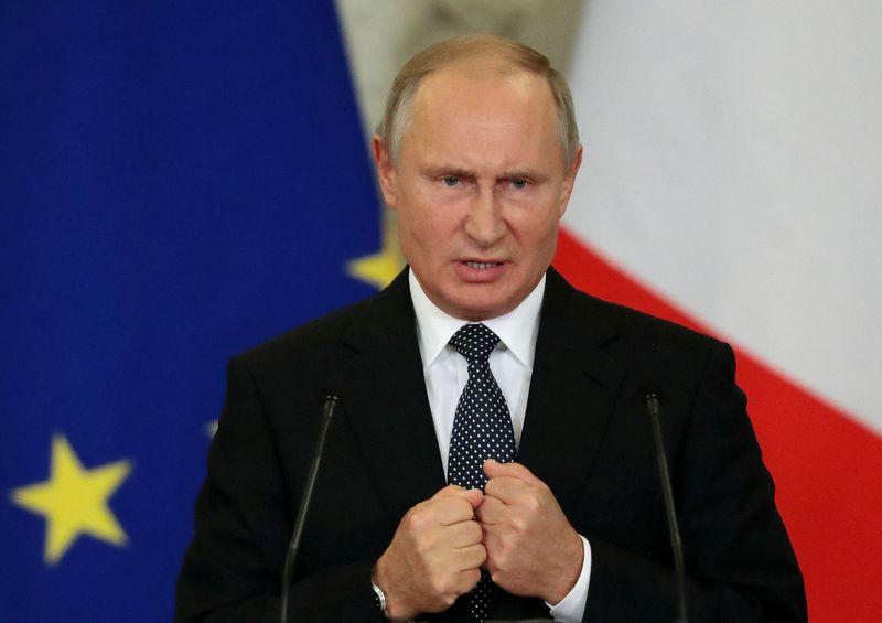 """Rusijos prezidentas Vladimiras Putinas. Sergejaus Chirikovo (""""Reuters"""" / """"Scanpix"""") nuotr."""