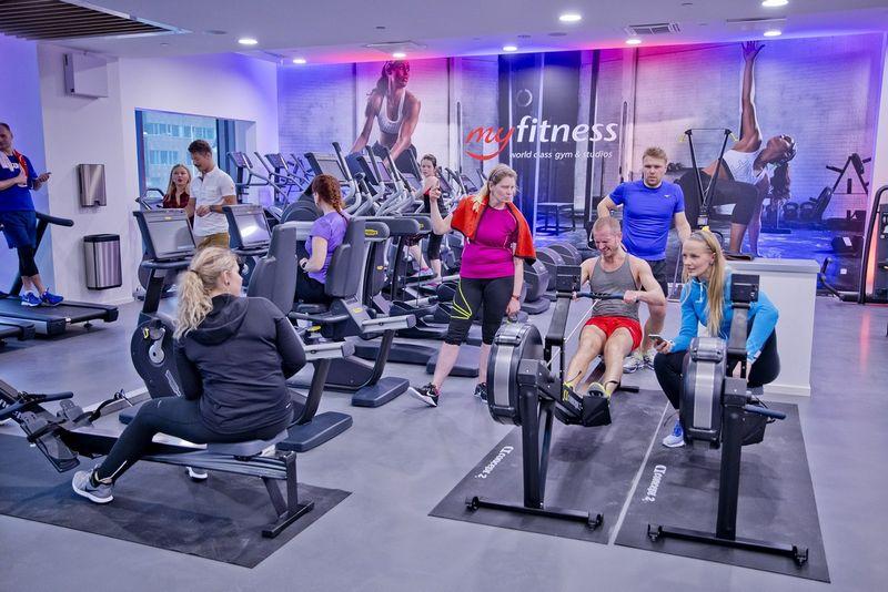 """""""MY Fitness"""", skirtingai nuo daugumos konkurentų, nesiūlo metinių narysčių. Bendrovės nuotr."""