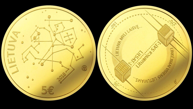 Lietuviškos kosmoso istorijos pradžią įamžins aukso moneta