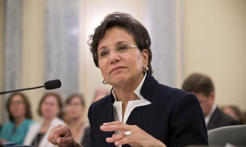 Imigranto iš Kijivo Abrahamo Pritzkerio anūkė ir Donaldo Pritzkerio dukra Penny Baracko Obamos buvo paskirta JAV prekybos sekretore. AP nuotr.