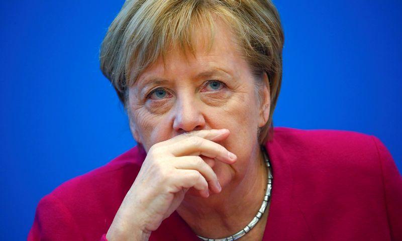"Vokietijos kanclerė Angela Merkel. Hannibalo Hansche (""Reuters"" / ""Scanpix"") nuotr."
