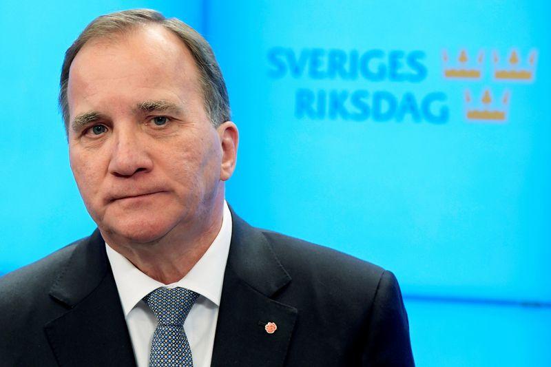 "Švedijos premjeras ir socialdemokratų lyderis Stefanas Lofvenas. Anders Wiklundo (""Reuters"" / ""Scanpix"")  nuotr."