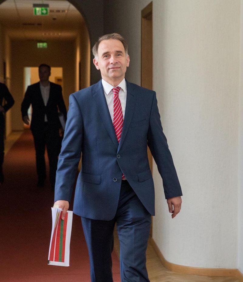 Spaudos konferencija Susisiekimo ministerijoje. Susisiekimo ministras Rokas Masiulis. Juditos Grigelytės (VŽ) nuotr.