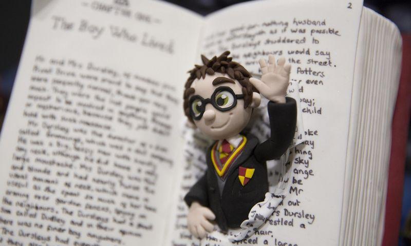 """Amerikiečių mėgstamiausių knygų trejetuke atsidūrė ir J. K Rowling sukurta """"Hario Poterio"""" serija. Neil Hall (""""Reuters"""" / """"Scanpix"""") nuotr."""