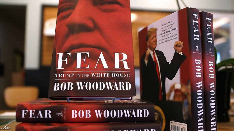 "Bobas Woodwardas, ""Fear: Trump in the White House"",""Simon & Schuster"", 2018 m., p. 449."