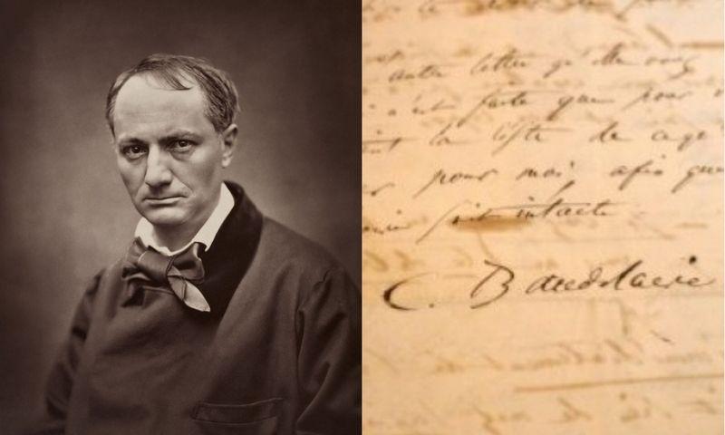 Poeto Charles'o Pierre'o Baudelaire'o (1821–1867) atsisveikinimo laiškas. wikipedia.org nuotr./VŽ koliažas.