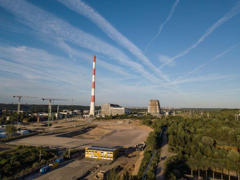 Statoma Vilniaus kogeneracinė jėgainė, prie Gariūnų turgaus. Vladimiro Ivanovo (VŽ) nuotr.