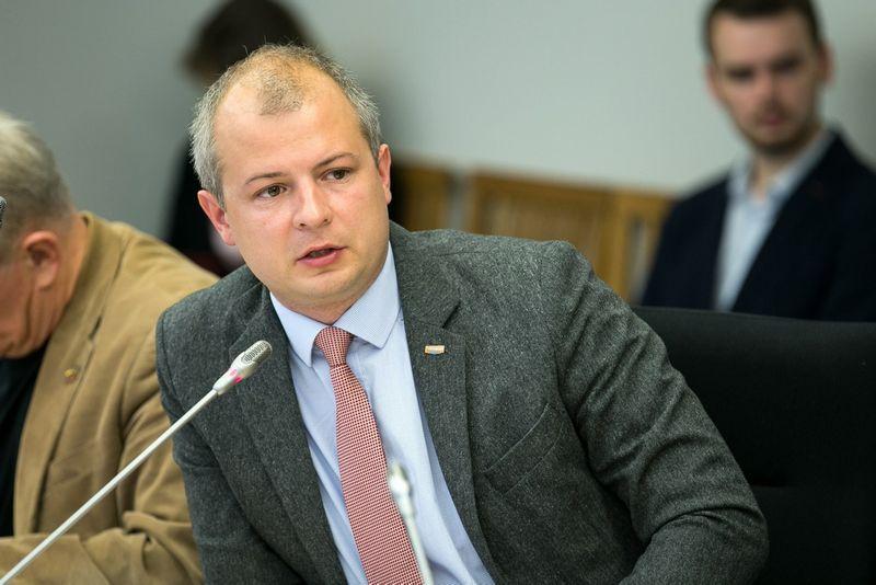 """Simonas Gentvilas, Seimo Aplinkos apsaugos komiteto vicepirmininkas. Žygimanto Gedvilos (15min./""""Scanpix"""") nuotr."""
