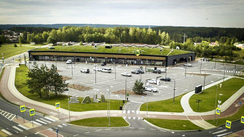 """""""Baltisches Haus"""" vizitinė kortelė – pirmasis Lietuvoje pagal tarptautinį tvariųjų pastatų standartą BREEAM statytas prekybos ir paslaugų centras """"Žali""""."""