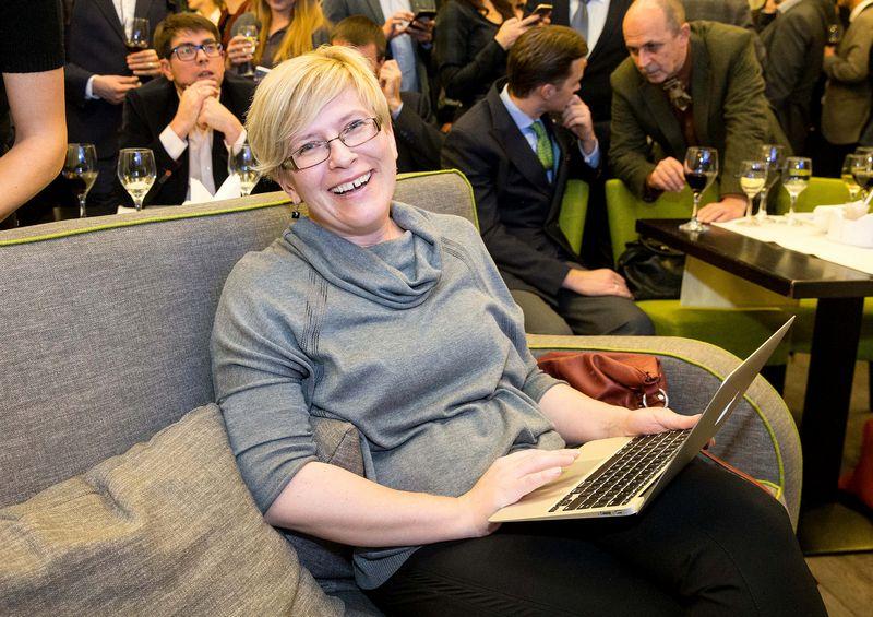 Už Ingridą Šimonytę balsavo keturi iš penkių rinkėjų, dalyvavusių pirminiuose konservatorių remiamo kandidato į prezidentus rinkimuose. Juditos Grigelytės (VŽ) nuotr.