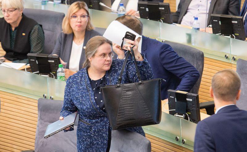 Seimo narė Agnė Širinskienė. Juditos Grigelytės (VŽ) nuotr.