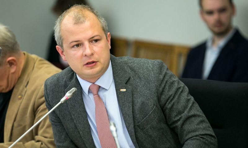 """Simonas Gentvilas, Seimo Aplinkos apsaugos komiteto vicepirmininkas. Žygimanto Gedvilos (""""15min./""""Scanpix"""") nuotr."""