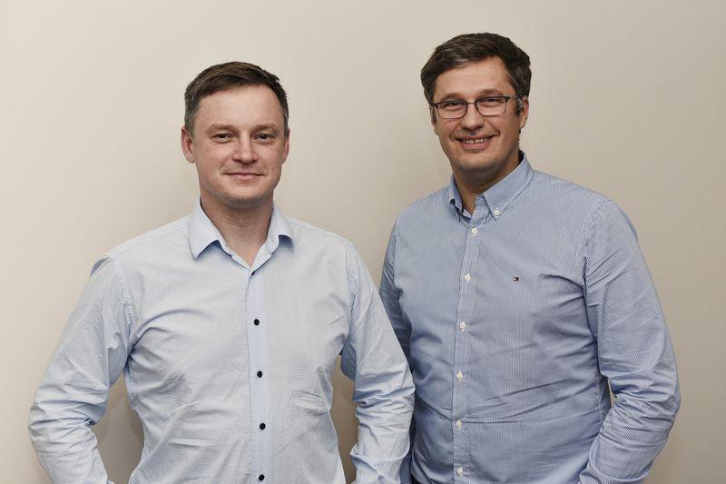 """Aurimas Šutas (kairėje) ir Marius Raila, UAB """"Eko Farm"""" bendraturčiai, neslepia, kad sunkiausia pelnyti klientų pasitikėjimą buvo verslo pradžioje.  Įmonės nuotr."""