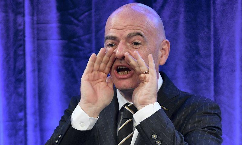 "Giannis Infantino, FIFA prezidentas. ""Sputnik"" / ""Scanpix"" nuotr."