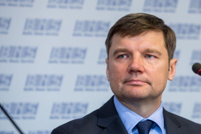 """""""Agrokoncerno"""" įmonių grupės vadovų spaudos konferencija.  Edgaras Šakys, """"Agrokoncerno"""" direktorius. Vladimiro Ivanovo (VŽ) nuotr."""