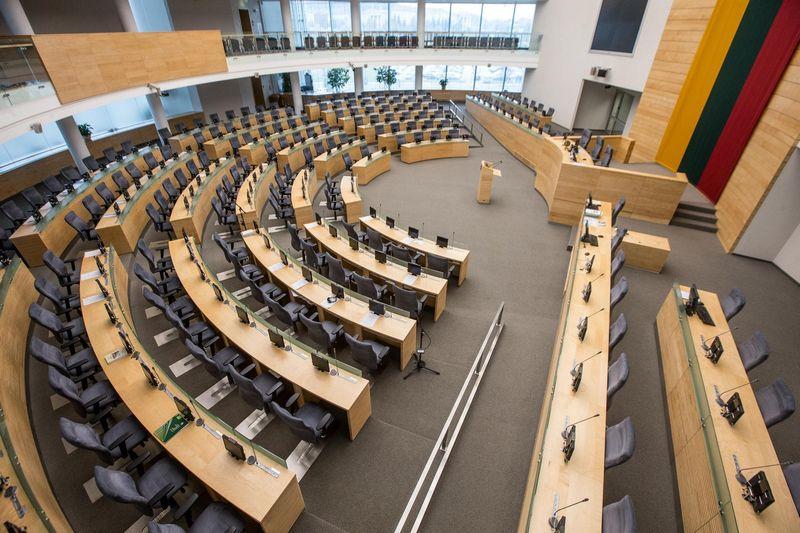Šiuo metu Seimo plenarinių posėdžių salėje - 141 vieta. Juditos Grigelytės (VŽ) nuotr.