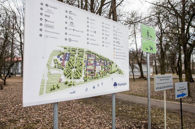 """""""Vilnius Tech Park"""" – startuolių slėnis Vilniaus Antakalnio mikrorajone.  Juditos Grigelytės (VŽ) nuotr."""