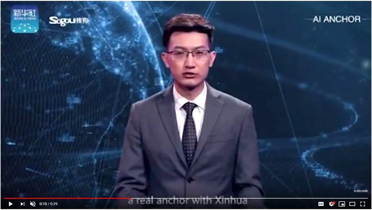 Kinai pristatė žinių vedėją robotą