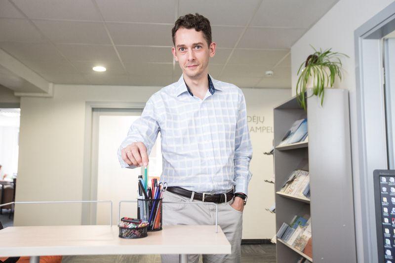 """Ramojus Reimeris, """"Mosta"""" inovacijų politikos analizės skyriaus vedėjas centrui laikinai vadovauja dvejus metus. Juditos Grigelytės (VŽ) nuotr."""
