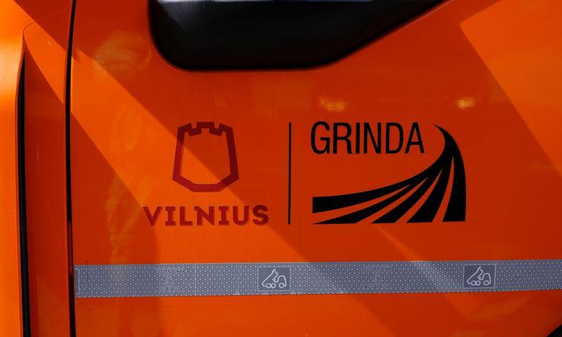 """Vilniaus miesto savivaldybės valdomos bendrovės """"Grinda"""" logotipas. Vladimiro Ivanovo (VŽ) nuotr."""