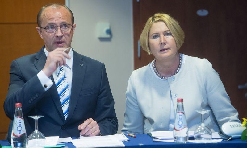 Druskininkų meras, LSA prezidentas Ričardas Malinauskas ir Romas Žakaitienė, LSA direktorė.Juditos Grigelytės (VŽ) nuotr.