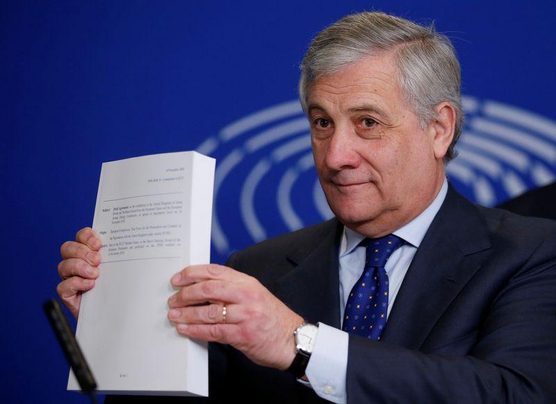 "Europos parlamento pirmininkas Antonio Tajani. Vincento Kesslerio (""Reuters"" / ""Scanpix"") nuotr."