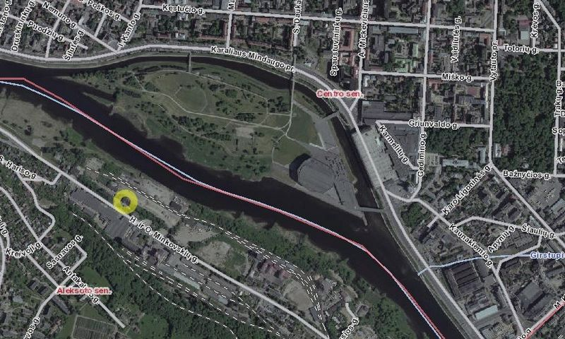 """""""Urban Inventors"""" įsigytos teritorijos vieta Kaune. """"Regios"""" atvaizdas."""