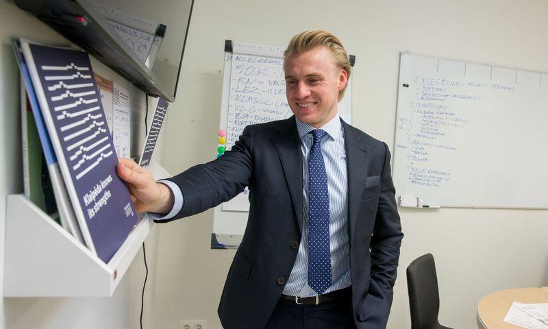 """Simas Simanauskas, VšĮ """"Klaipėda ID"""" direktorius: """"Sukūrėme modernų prekės ženklą, kuris yra tikslus ir lengvai įsimenamas, į komandą pritraukėme daugiau ekonomistų ir analitikų."""" Juditos Grigelytės (VŽ) nuotr."""
