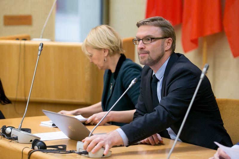 Socialinės apsaugos ir darbo ministras Linas Kukuraitis. Juliaus Kalinskos  (BNS) nuotr.