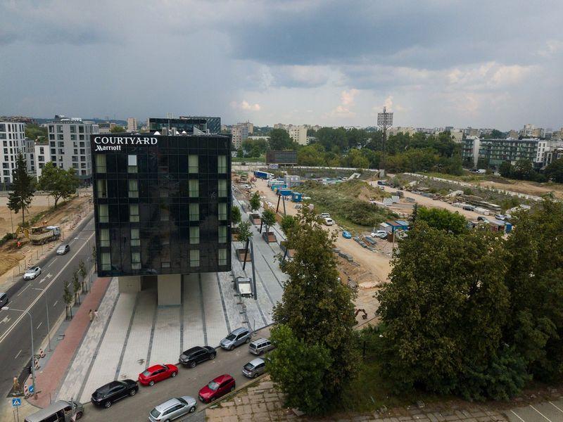 """""""Hanner"""" plėtojama buvusio """"Žalgirio"""" stadiono teritorija. Vladimiro Ivanovo (VŽ) nuotr."""