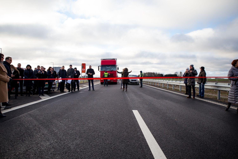 "Atidarytas ""Via Baltica"" automagistralės ruožas"