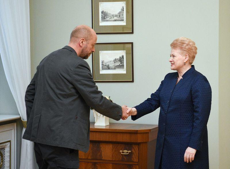 Jonas Ohmanas ir Dalia Grybauskaitė. Roberto Dačkaus (lrp.lt) nuotr.
