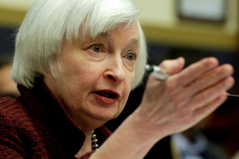 "Janet Yellen, buvusi FED vadovė. Yuri Gripaso (""Reuters"" / ""Scanpix"") nuotr."