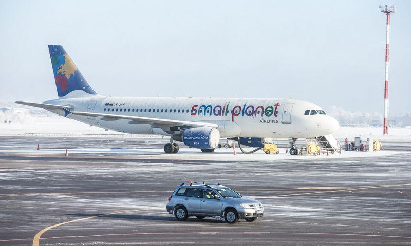 """Small Planet Airlines"" licencija buvo sustabdyta. Juditos Grigelytės (VŽ) nuotr."