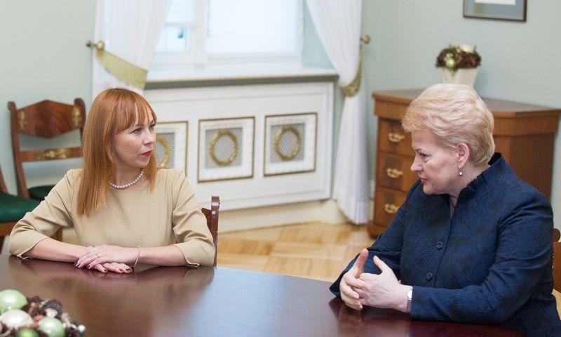 Dalia Grybauskaitė ir Jurgita Petrauskienė. Luko Balandžio (15min.lt) nuotr.