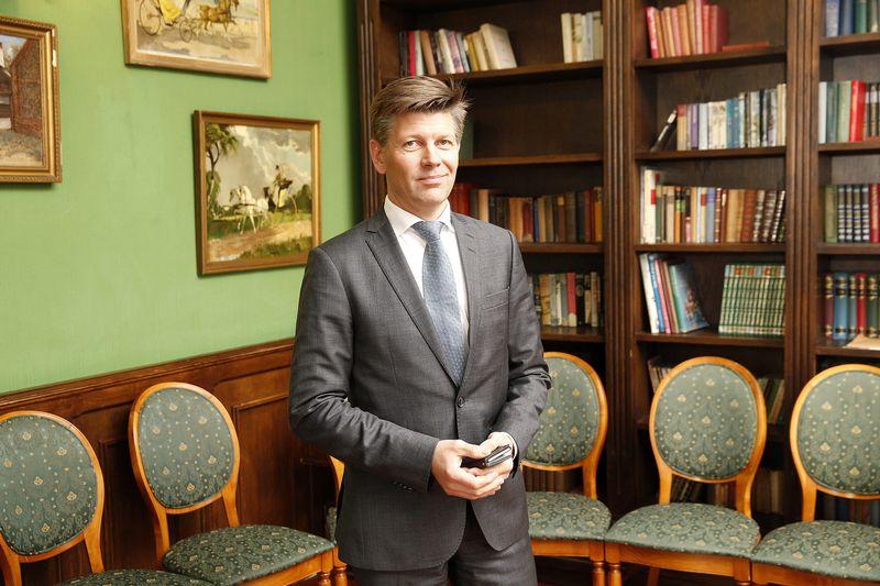 """Kimas Pessala, Suomijos investicinio banko """"Evli Bank"""" investicijų vadovas. Vladimiro Ivanovo (VŽ) nuotr."""