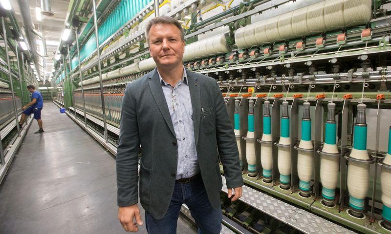 """Rosvaldas Kunickas, """"Danspin"""" direktorius: """"Plėtra vyktų užimant gamybą stabdančių ir bankrutuojančių įmonių vietą, o ne todėl, kad produkto poreikis didėja."""" Juditos Grigelytės (VŽ) nuotr."""