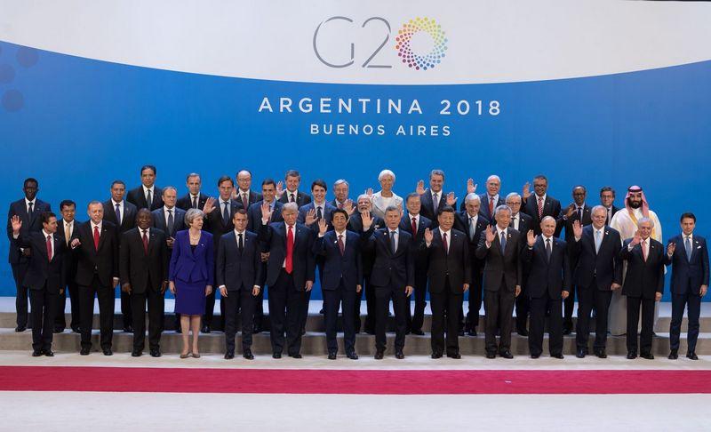 """Buenos Airėse vyksta G20 susitikimas. Jacques Witt (""""SIPA"""" / """"Scanpix"""") nuotr."""