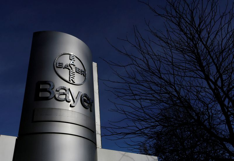 FILE PHOTO: The logo of Bayer AG,  February 24, 2014. REUTERS/Ina Fassbender/File Photo