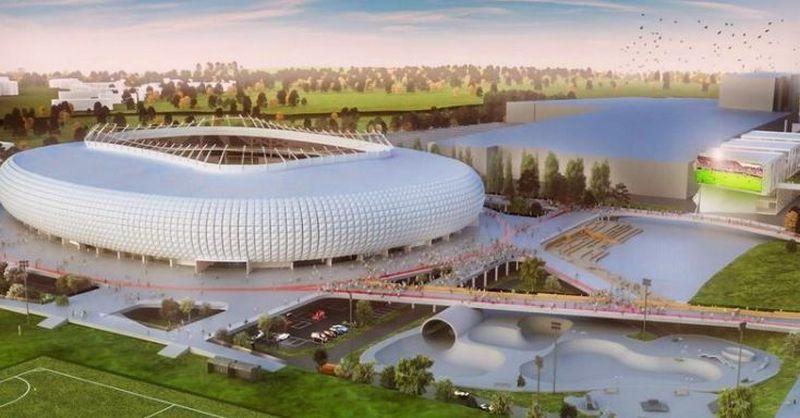 UAB Vilniaus nacionalinis stadionas vizualizacija.