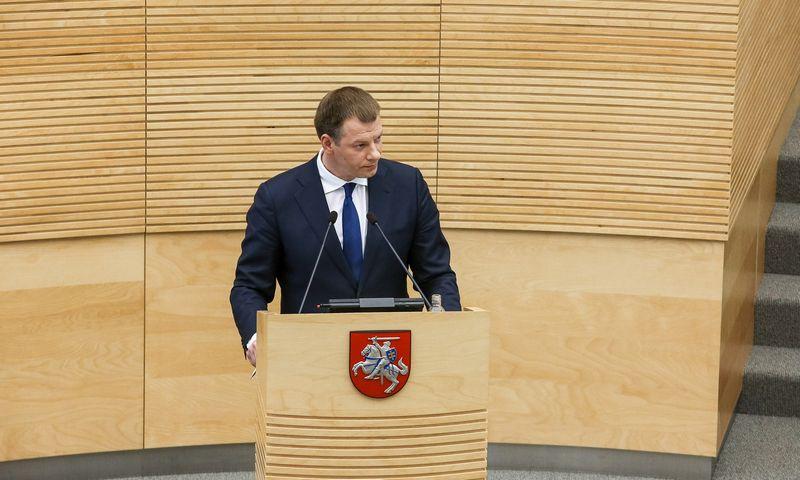 Vilius Šapoka, finansų ministras. Vladimiro Ivanovo (VŽ) nuotr.