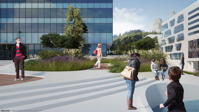 Vokietijoje įvertintas Kauno Vienybės aikštės rekonstrukcijos projektas